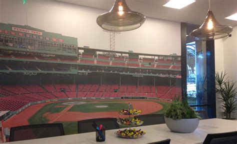 Fenway Park Wall Mural axis communications opens new experience center in irvine