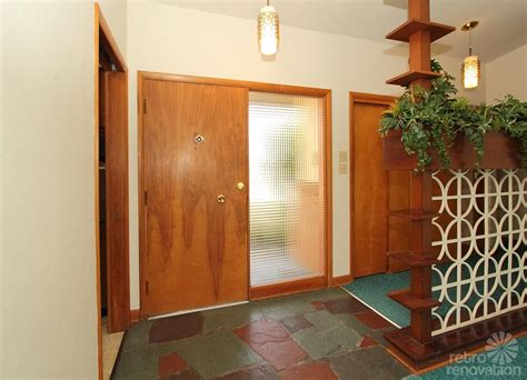 mid century entryway warm and beautiful 1962 mid century modern brick ranch