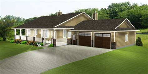 house plan  trendy ranch style bungalow
