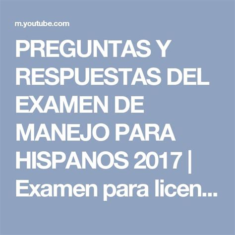 examen de manejo de california 2017 para hispanos youtube m 225 s de 20 ideas incre 237 bles sobre examen preguntas y