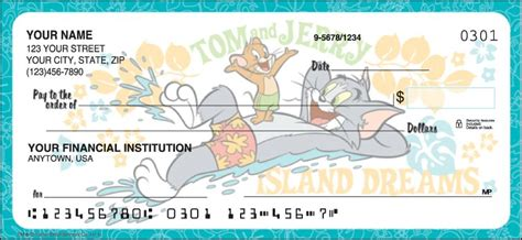 Project 2 Tom Checkbook by Tom And Jerry Checks Designer Checks