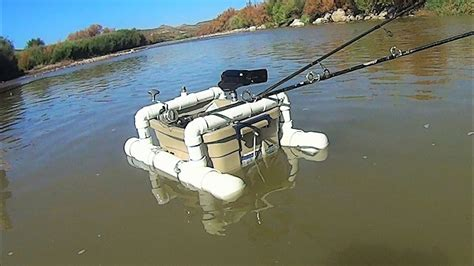 diy pontoon boat rod holders diy floating camera base and fishing rod holder youtube