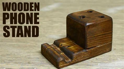 diy wooden diy wooden phone stand