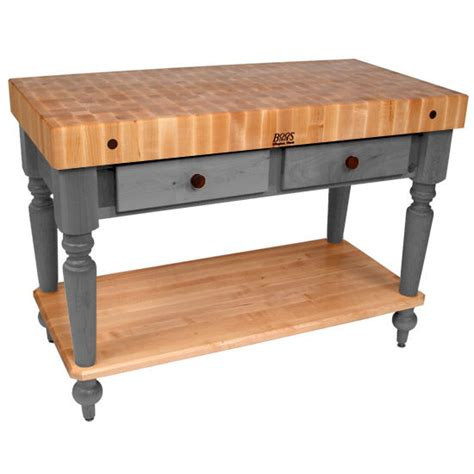 boos kitchen island work tables 48 cucina rustica