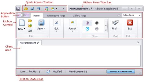 tutorial devexpress delphi ribbon control ribbon bars and menu winforms controls