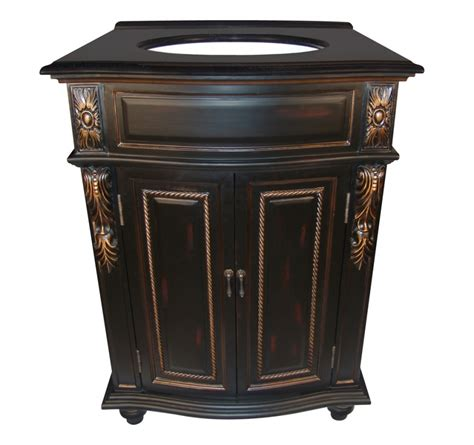 26 inch single sink bathroom vanity with a black finish