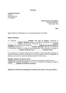 Exemple De Lettre De Recommandation Morale Modele Procuration Assemblee Generale Sci Document