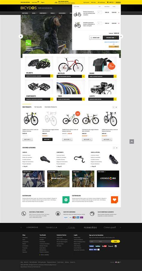 Bigcommerce Stencil Templates Bicydos Premium Responsive Bigcommerce Template Stencil Ready Themevale Com Bigcommerce
