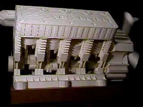Papercraft Engine - papercraft in line 4 cylinder engine working paper model