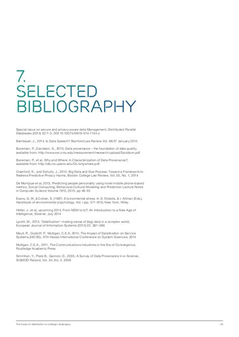 selected bibliography definition datafication is transforming the industry landscape