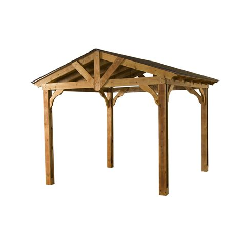 Carport Kits Lowes shop heartland 1 in w x 1 in l x 1 in h microshade wood freestanding pergola at lowes