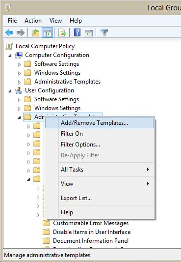 use group policy admx files in windows 7 or 8 non domain