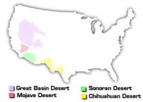 united states map showing deserts american deserts desertusa
