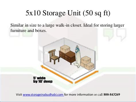 50 sq feet different types of storage units in abu dhabi sizes and its uses