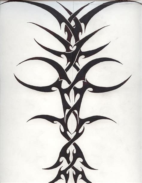 tribal spine tattoo designs spinal tribal 2 by jakofheartz5870 on deviantart