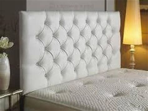 white studded headboard gorgeous diamante studded headboards brand new