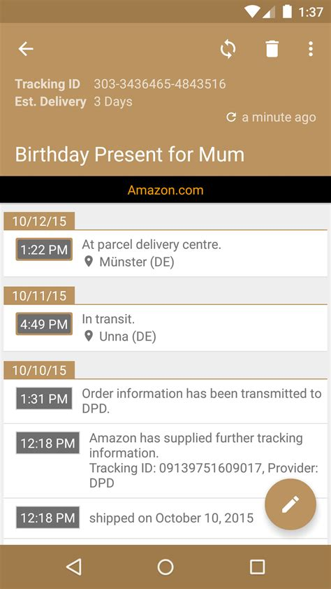 deliveries pro apk deliveries package tracker appstore for android