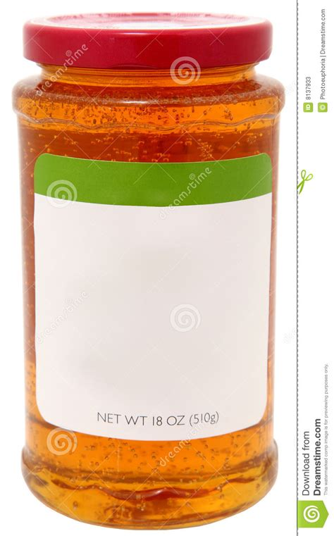 Jam Guess Blang Blank apple jelly with blank label stock photos image 8137933