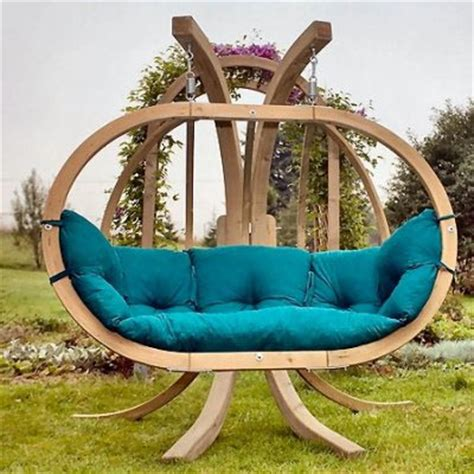 wooden garden swings for adults round wooden garden swing from amazonas