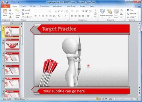 Animated Darts Target Practice Template For Powerpoint Presentations Target Powerpoint Template