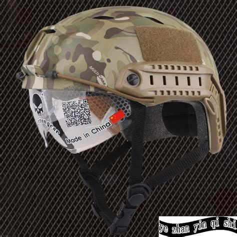 Helm Tactical Emerson Gear Fast Helmet Mh Type Airsoft Em8812 emerson fast helmet with protective goggle bj type helmet airsoft helmet tactical army