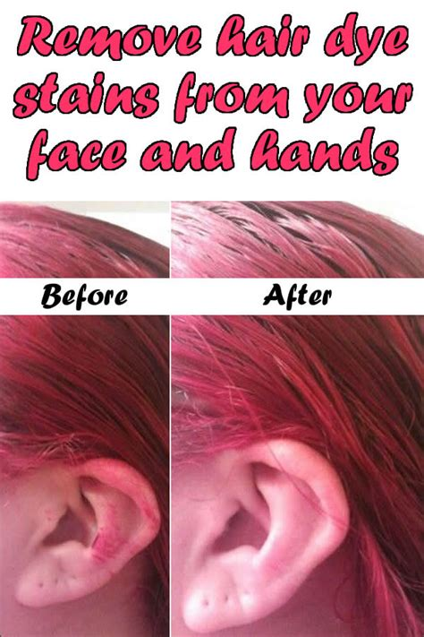 how to remove hair dye stains from bathroom surfaces remove hair dye stains from your face and hands my body