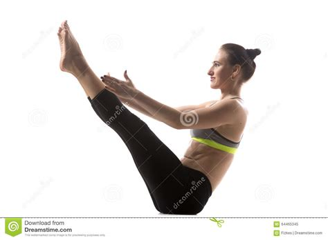 boat pose exercise video exercise for abs stock photo image 64465345