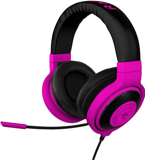 Headphone Razer Kraken razer kraken pro ear pc and headset neon blue computers accessories