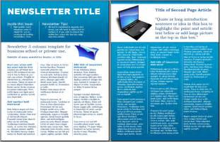 free templates for newsletters in microsoft word worddraw technology business newsletter template for
