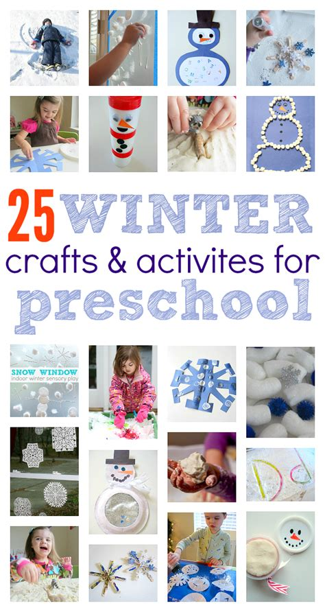 kindergarten activities winter winter crafts for preschool