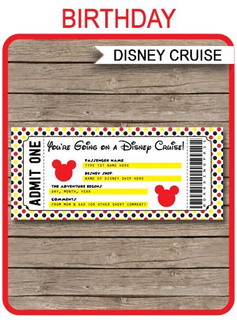 printable disney cruise ticket surprise disney cruise
