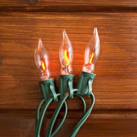 flicker christmas lights lights string lights 10ft outdoor green wire c7 strand flickering walmart