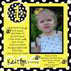1000 images about bumble bee theme on bumble bees bumble bee birthday and bees - 1st Birthday Invitation Words Sle