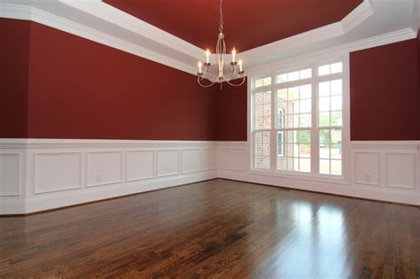 Dining room with wainscoting traditional raleigh by stanton homes
