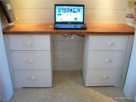turn desk into vanity dresser to desk
