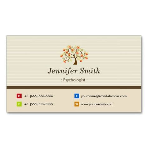 symbols business card templates psychologist tree symbol business card