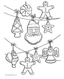 christmas ornaments coloring pages free