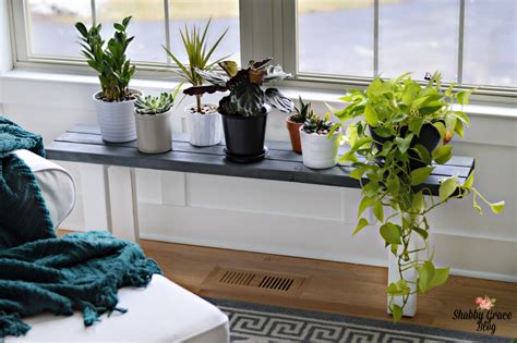 bench for plants 15 diy plant stands to fill your home with greenery