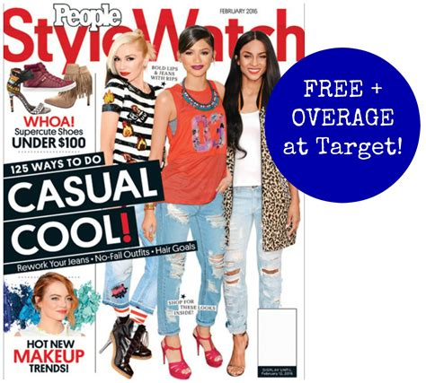 In Style New Magazine Targeting Late by Free Stylewatch Magazine Overage At Target