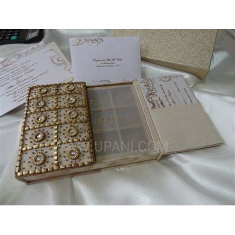 Wedding Card Noida by Gold Embroidery Box B Ful Exclusive Custom Made