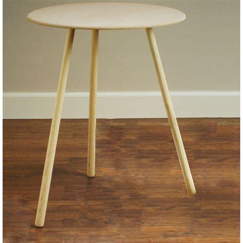 three legged half table designs