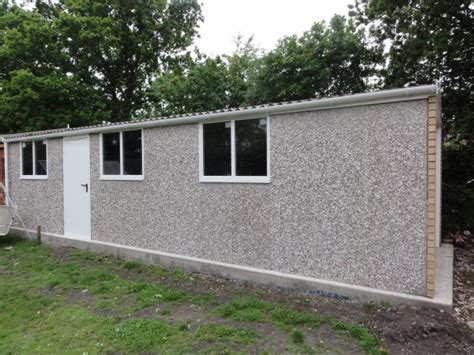 sectional concrete buildings apex concrete garage 30 long with coloured roof sheets