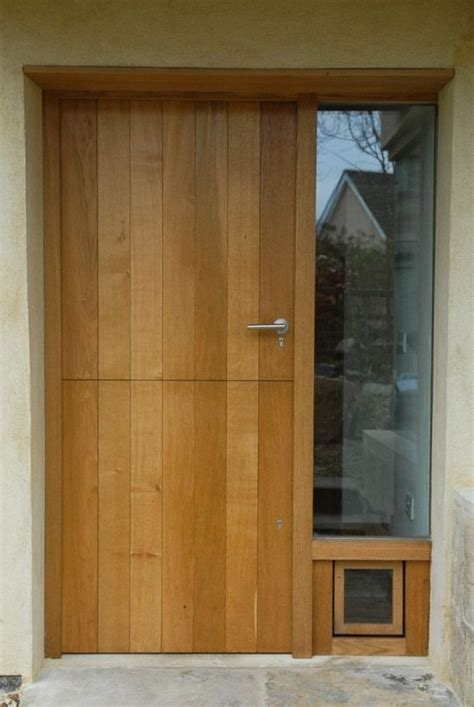 Interior Cat Door With Flap Designed And Crafted By Ooma Design With Designer Cat Flap Home Aisle And Pinterest