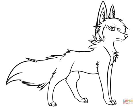 stylish wolf coloring page free printable coloring pages