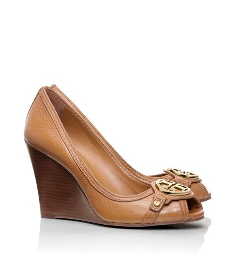 Wedges Letizia burch leticia wedge in brown lyst