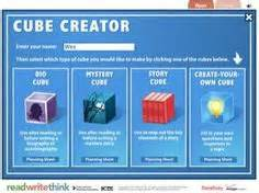 story cube book report tech tools on qr codes presentation