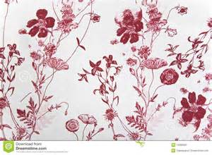 Flower fabric texture red plants on white background