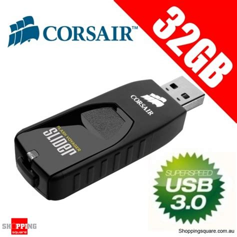 Corsair Flash Slider 3 0 32gb corsair 32gb flash voyager slider usb 3 0 shopping shopping square au