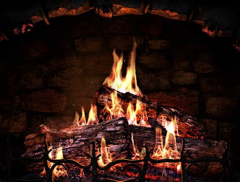 caminetto come salvaschermo con 3d fireplace