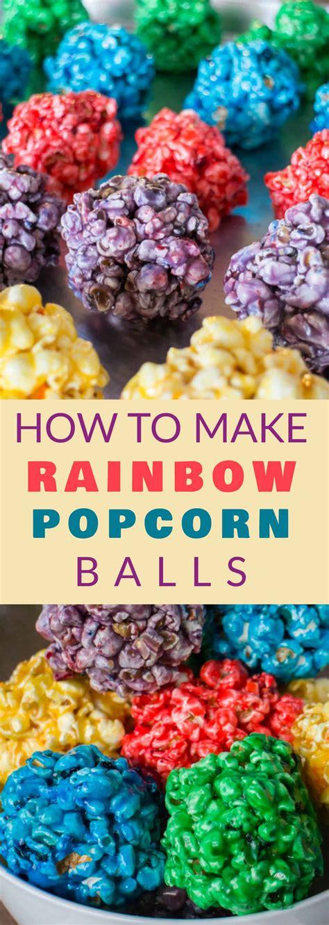 rainbow popcorn balls  marshmallow